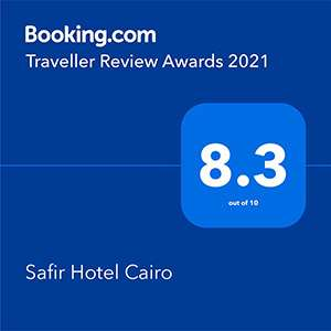 Safir Hotel Cairo  And Traveler Review Award 2021 by Booking.Com